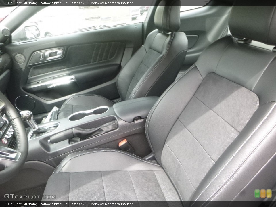 Ebony w/Alcantara 2019 Ford Mustang Interiors