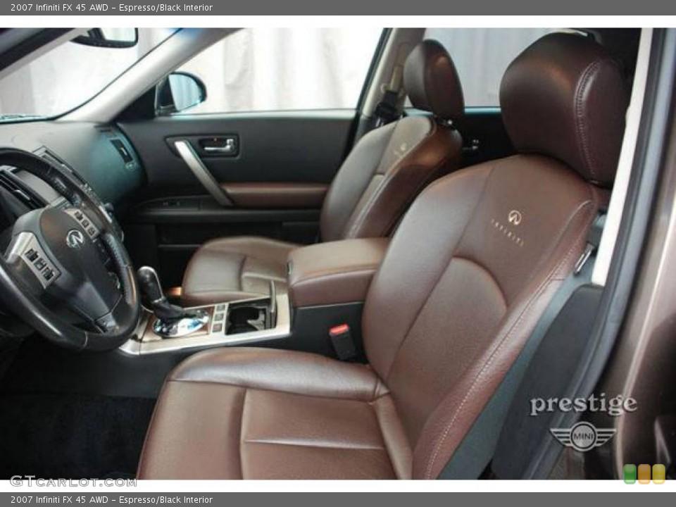 Espresso/Black Interior Photo for the 2007 Infiniti FX 45 AWD #13382798