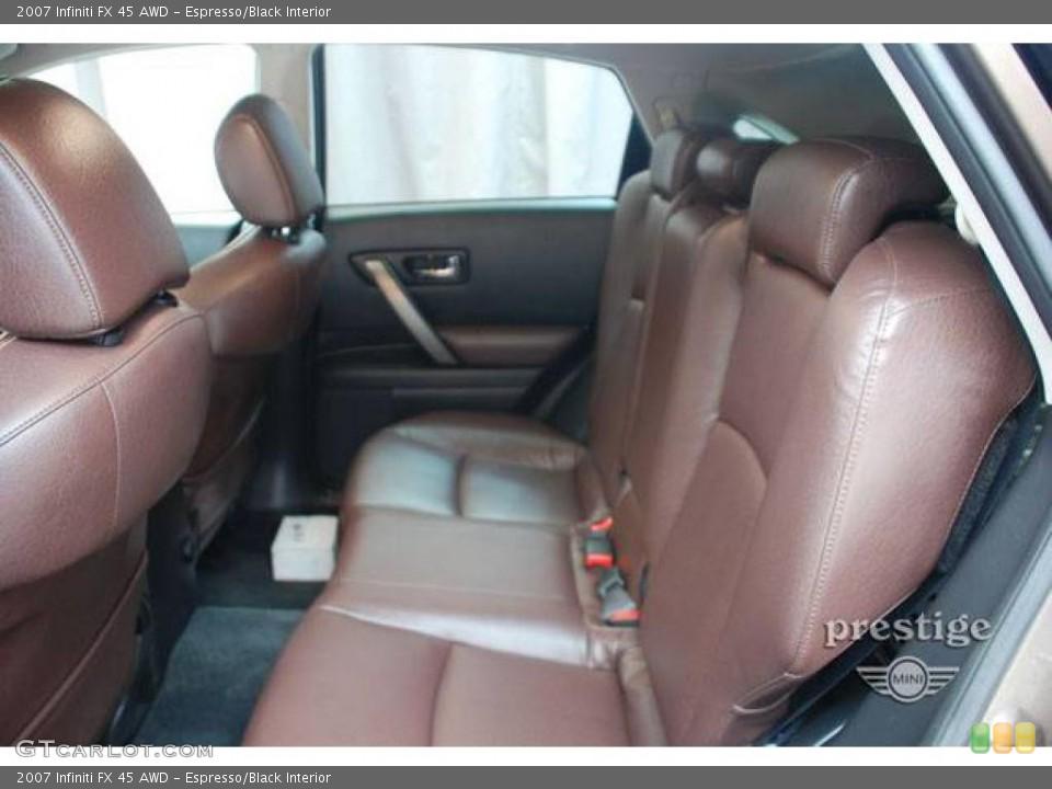 Espresso/Black Interior Rear Seat for the 2007 Infiniti FX 45 AWD #13382813