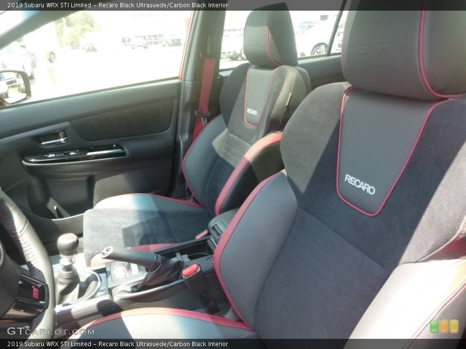 Recaro Black Ultrasuede/Carbon Black Interior Photo for the 2019 Subaru WRX STI Limited #134476682