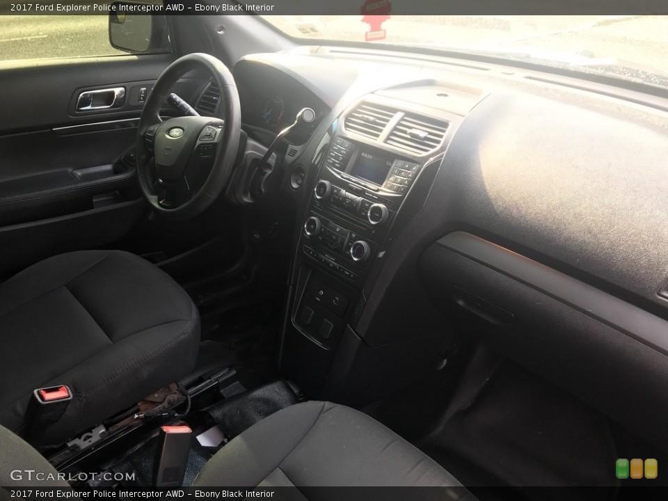 Ebony Black Interior Dashboard for the 2017 Ford Explorer Police Interceptor AWD #134601004