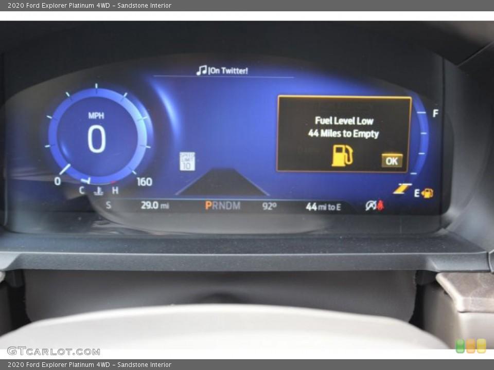 Sandstone Interior Gauges for the 2020 Ford Explorer Platinum 4WD #134665589