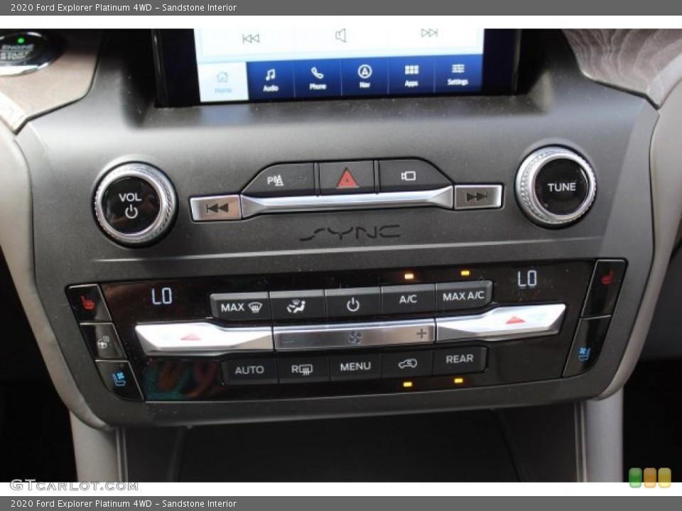 Sandstone Interior Controls for the 2020 Ford Explorer Platinum 4WD #134665616