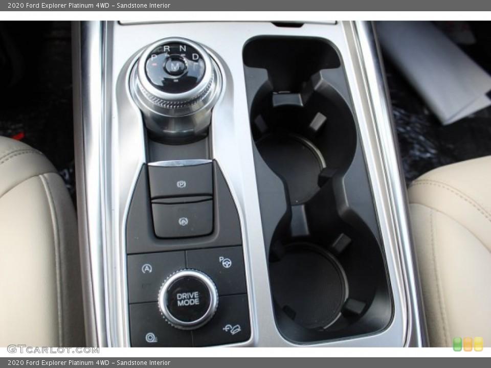 Sandstone Interior Transmission for the 2020 Ford Explorer Platinum 4WD #134665631