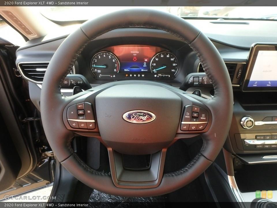 Sandstone Interior Steering Wheel for the 2020 Ford Explorer XLT 4WD #135137220