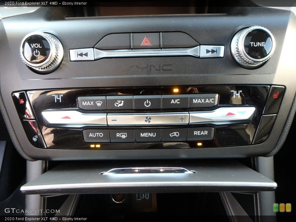 Ebony Interior Controls for the 2020 Ford Explorer XLT 4WD #135143994
