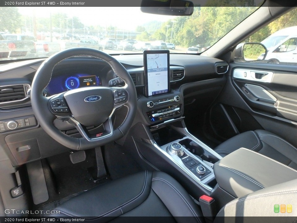 Ebony Interior Photo for the 2020 Ford Explorer ST 4WD #135155917