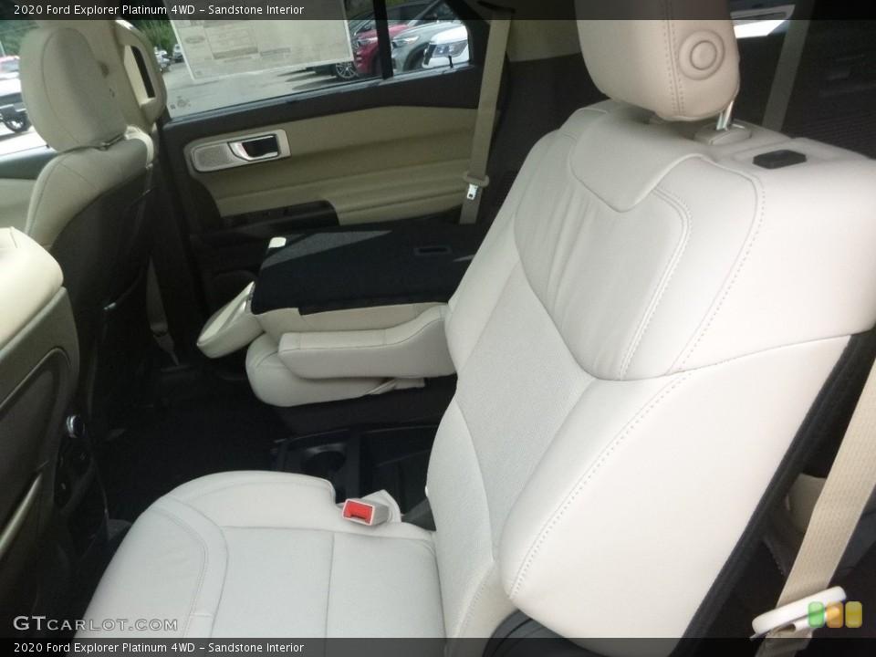 Sandstone Interior Rear Seat for the 2020 Ford Explorer Platinum 4WD #135171328