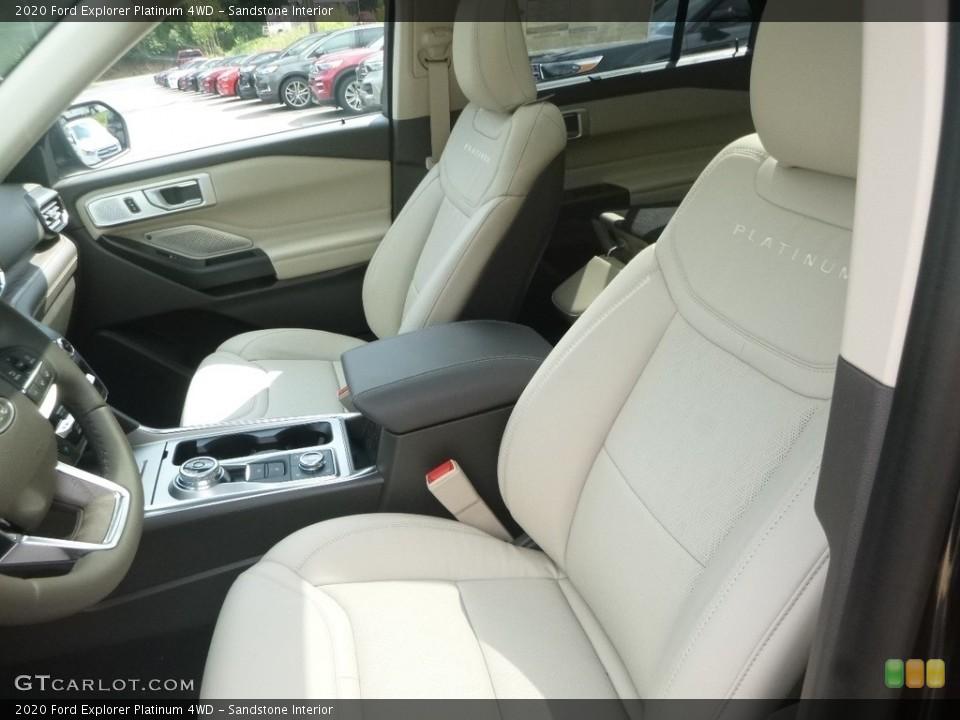 Sandstone Interior Front Seat for the 2020 Ford Explorer Platinum 4WD #135171361