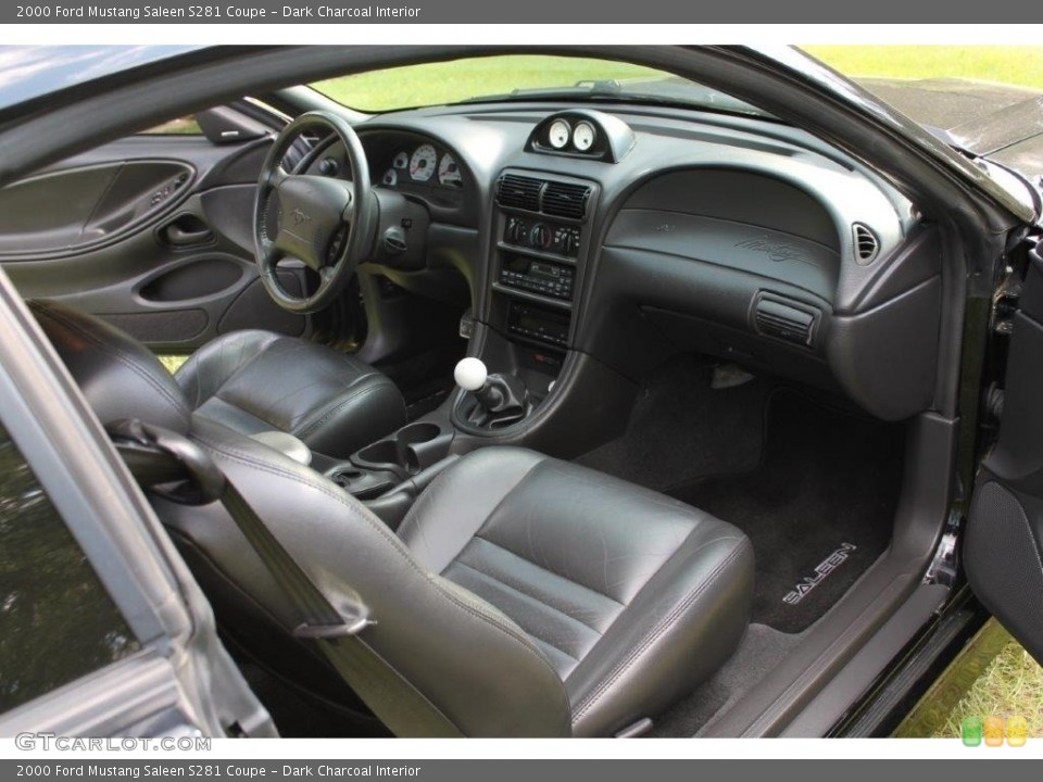Dark Charcoal Interior Photo for the 2000 Ford Mustang Saleen S281 Coupe #135240921