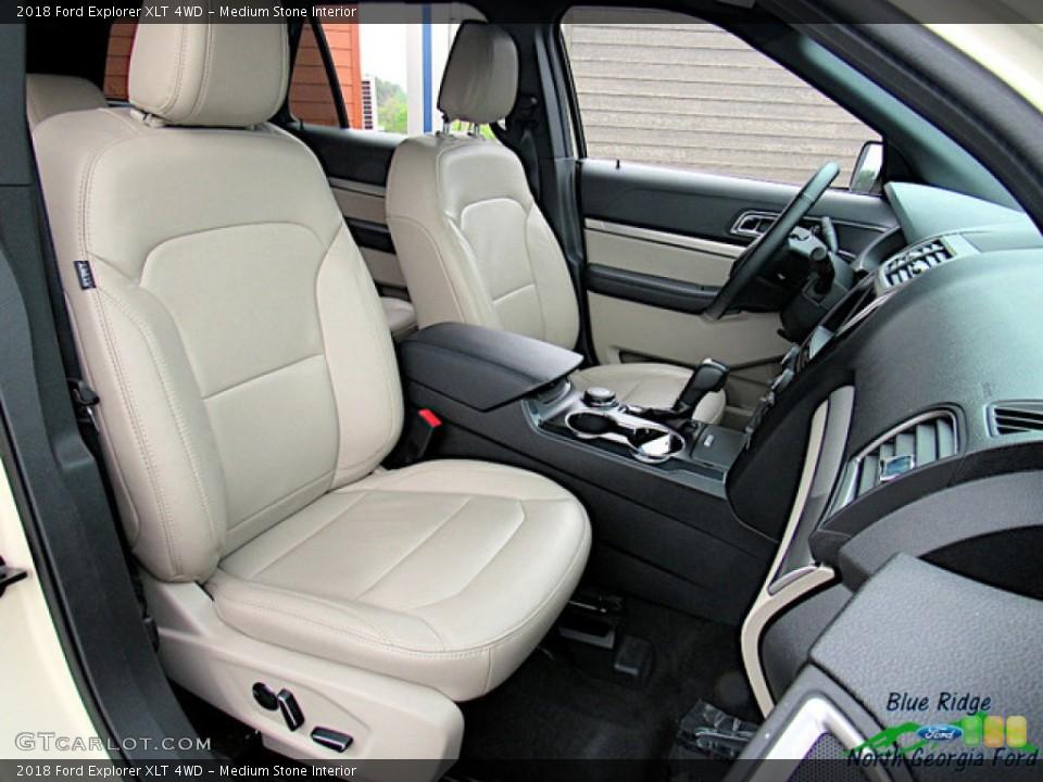 Medium Stone Interior Photo for the 2018 Ford Explorer XLT 4WD #135262745