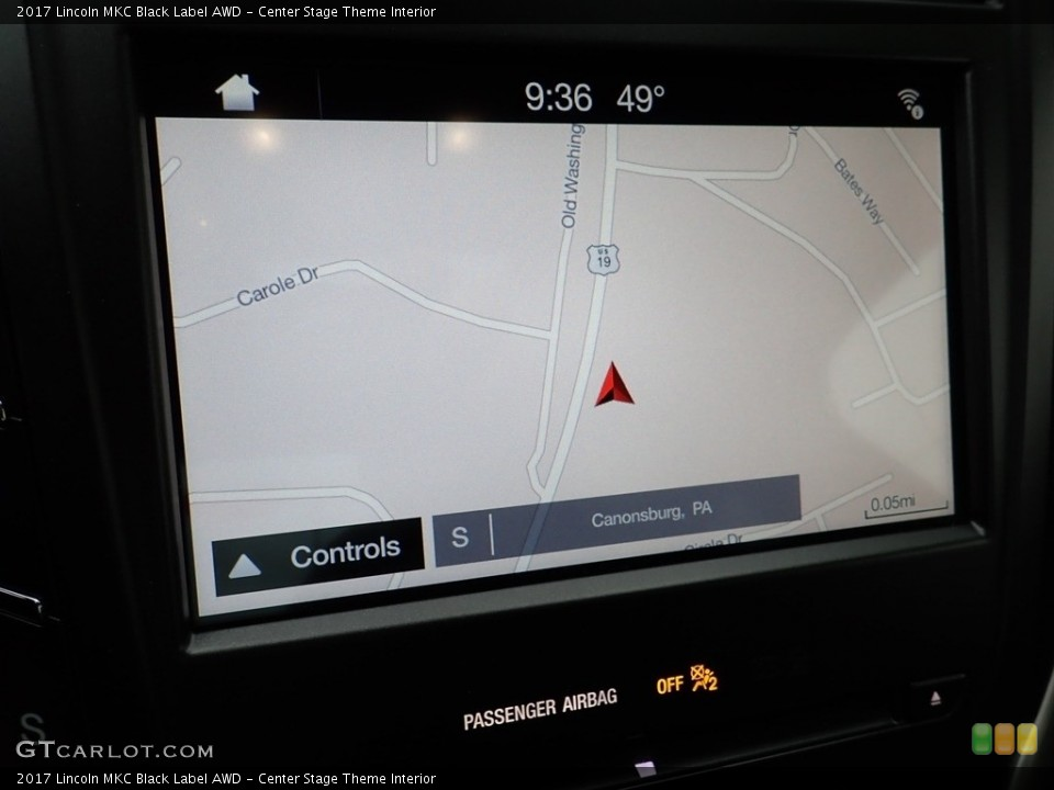 Center Stage Theme Interior Navigation for the 2017 Lincoln MKC Black Label AWD #135782969