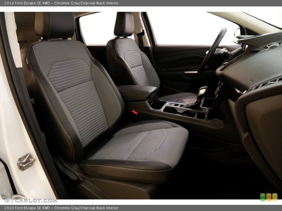 Chromite Gray/Charcoal Black Interior Front Seat for the 2019 Ford Escape SE 4WD #136276704