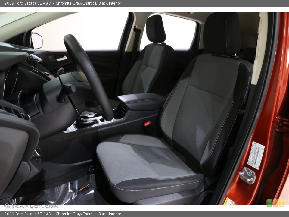 Chromite Gray/Charcoal Black Interior Front Seat for the 2019 Ford Escape SE 4WD #136417933