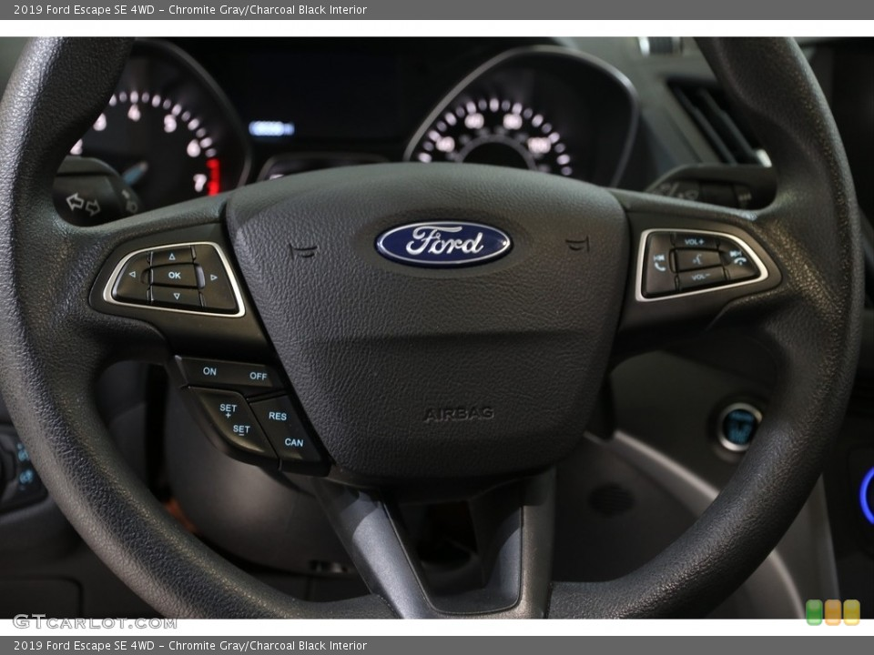 Chromite Gray/Charcoal Black Interior Steering Wheel for the 2019 Ford Escape SE 4WD #136417957
