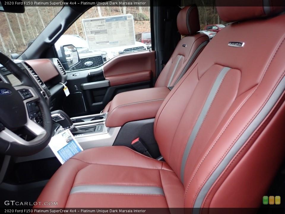 Platinum Unique Dark Marsala 2020 Ford F150 Interiors