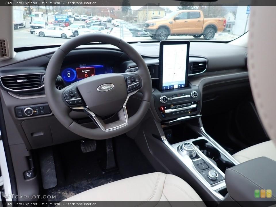 Sandstone Interior Photo for the 2020 Ford Explorer Platinum 4WD #136522207