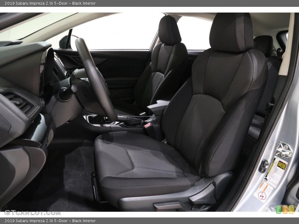 Black 2019 Subaru Impreza Interiors