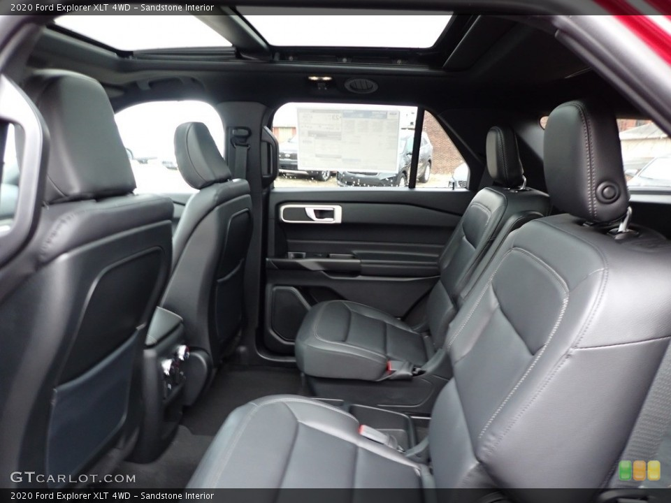 Sandstone Interior Rear Seat for the 2020 Ford Explorer XLT 4WD #137041428
