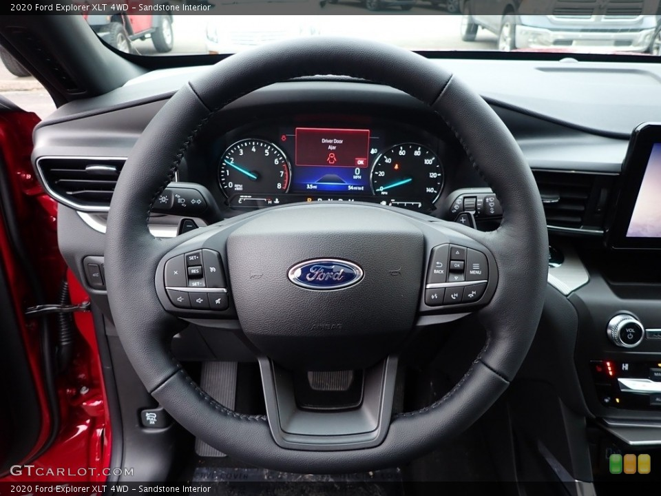 Sandstone Interior Steering Wheel for the 2020 Ford Explorer XLT 4WD #137041500
