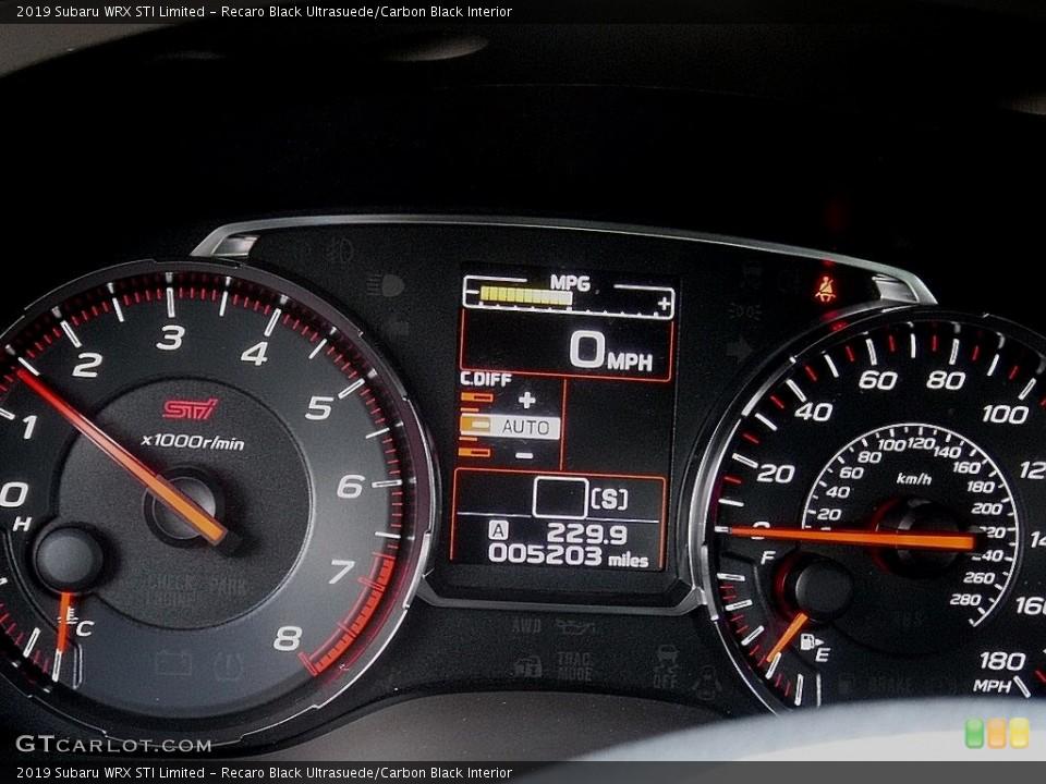 Recaro Black Ultrasuede/Carbon Black Interior Gauges for the 2019 Subaru WRX STI Limited #138294783