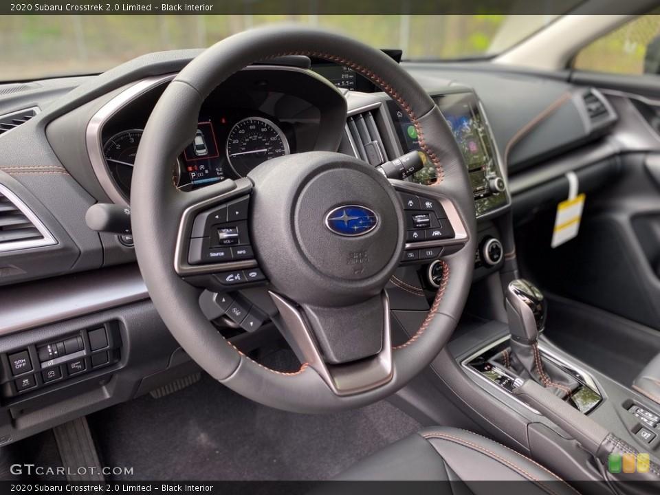 Black Interior Steering Wheel for the 2020 Subaru Crosstrek 2.0 Limited #138751209