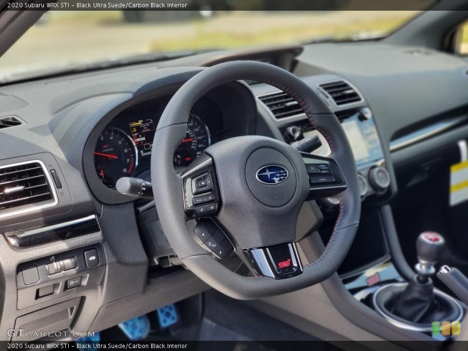 Black Ultra Suede/Carbon Black Interior Steering Wheel for the 2020 Subaru WRX STI #138757927