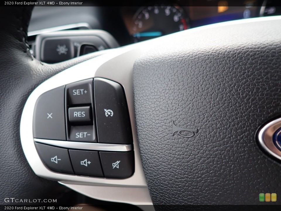 Ebony Interior Steering Wheel for the 2020 Ford Explorer XLT 4WD #139581822
