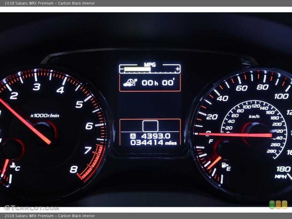 Carbon Black Interior Gauges for the 2018 Subaru WRX Premium #139657417