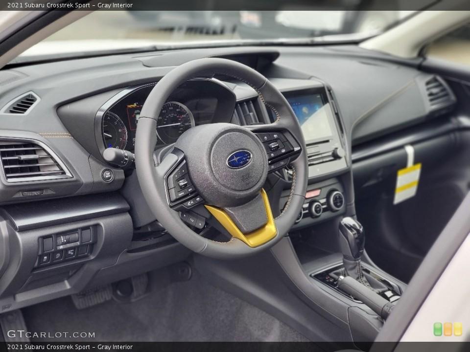 Gray Interior Steering Wheel for the 2021 Subaru Crosstrek Sport #139951878