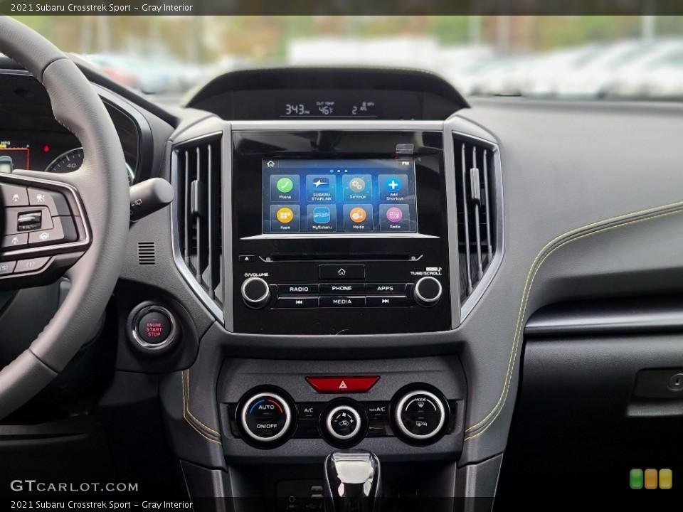 Gray Interior Controls for the 2021 Subaru Crosstrek Sport #140067812