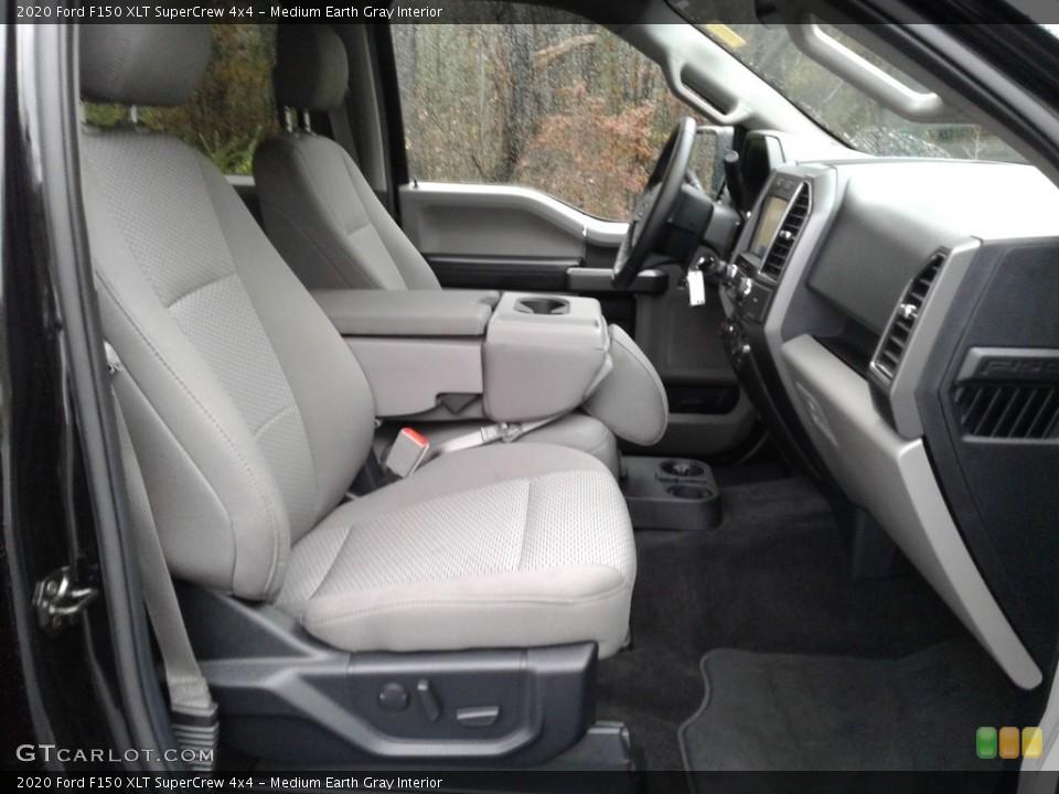 Medium Earth Gray 2020 Ford F150 Interiors