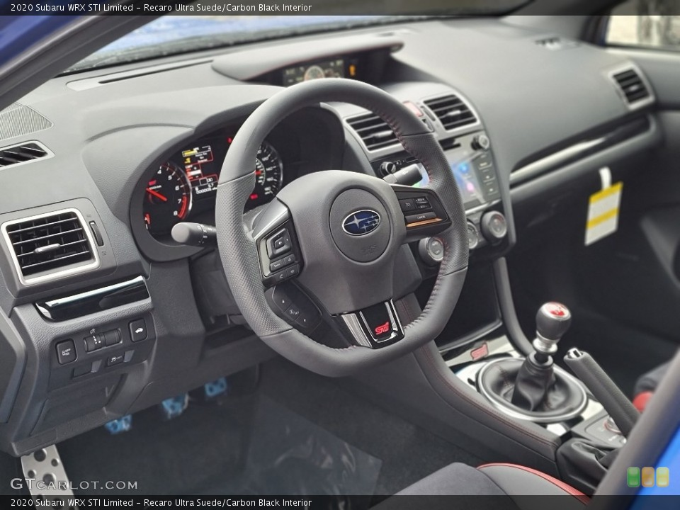 Recaro Ultra Suede/Carbon Black Interior Steering Wheel for the 2020 Subaru WRX STI Limited #140573769