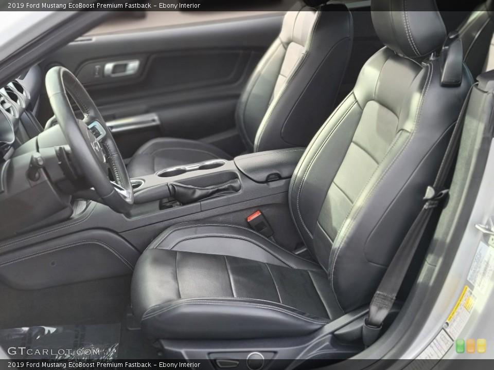 Ebony 2019 Ford Mustang Interiors