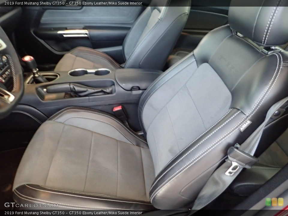 GT350 Ebony Leather/Miko Suede 2019 Ford Mustang Interiors