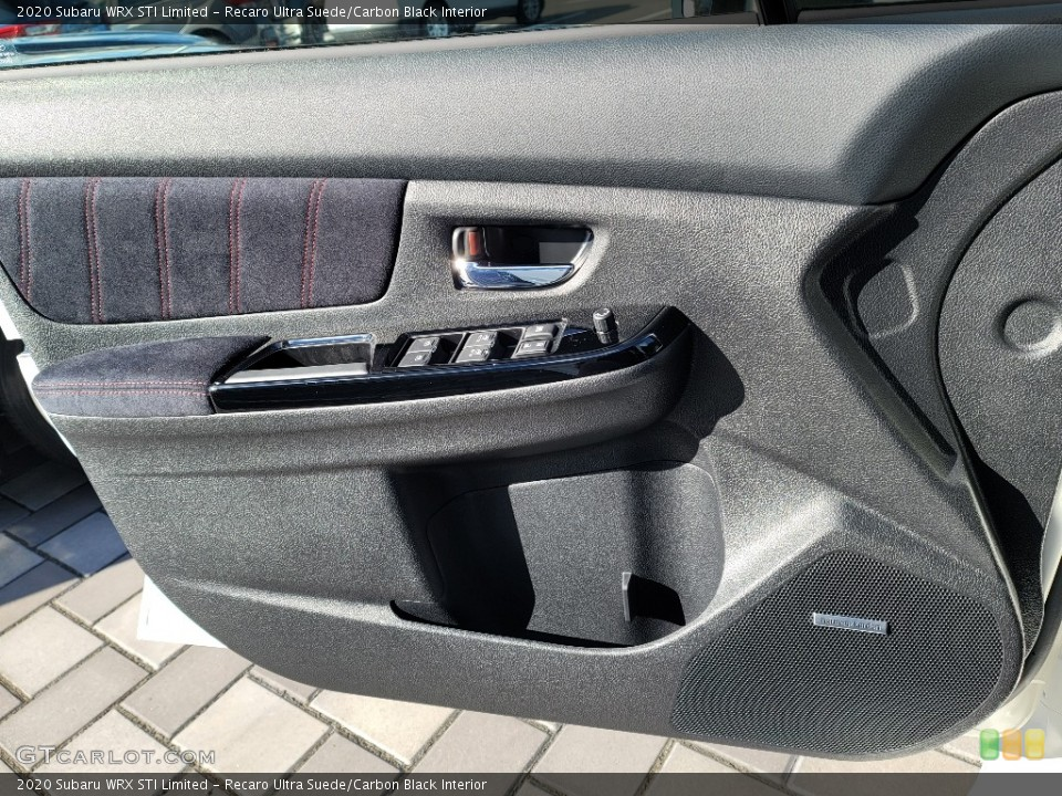 Recaro Ultra Suede/Carbon Black Interior Door Panel for the 2020 Subaru WRX STI Limited #140846257