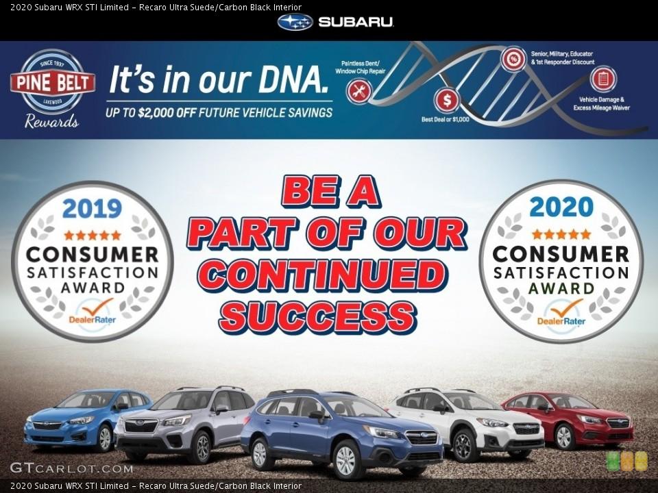 Recaro Ultra Suede/Carbon Black Interior Rear Seat for the 2020 Subaru WRX STI Limited #140945914