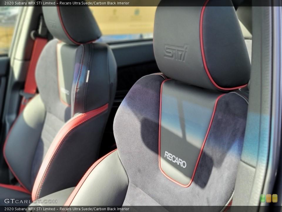 Recaro Ultra Suede/Carbon Black 2020 Subaru WRX Interiors