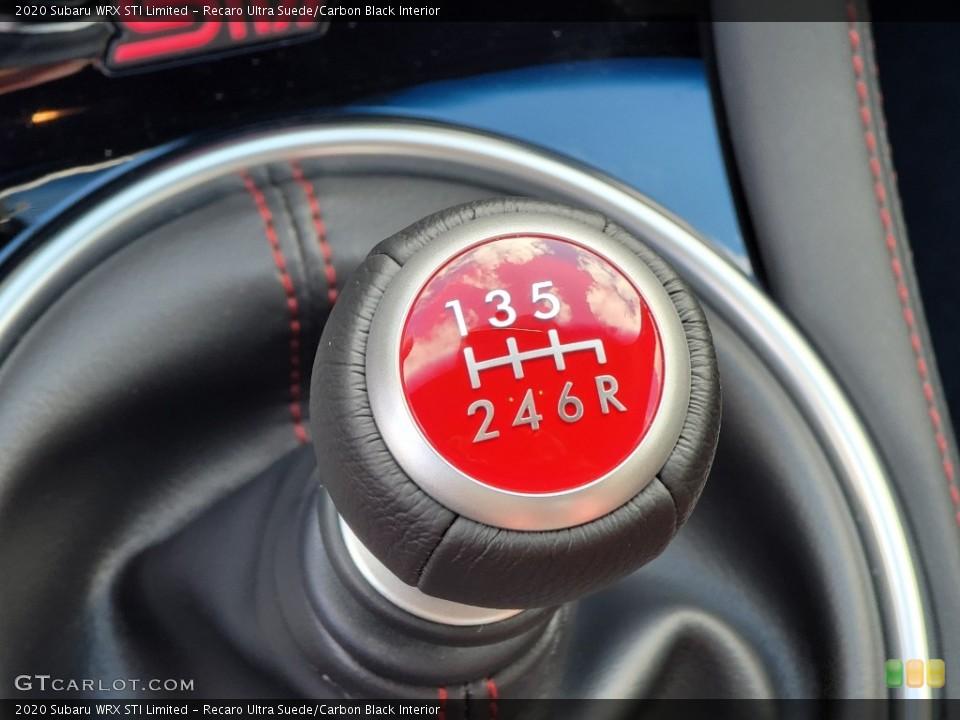 Recaro Ultra Suede/Carbon Black Interior Transmission for the 2020 Subaru WRX STI Limited #140946016