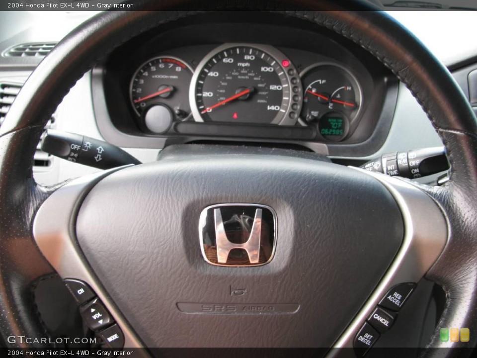 Gray Interior Steering Wheel for the 2004 Honda Pilot EX-L 4WD #17761511