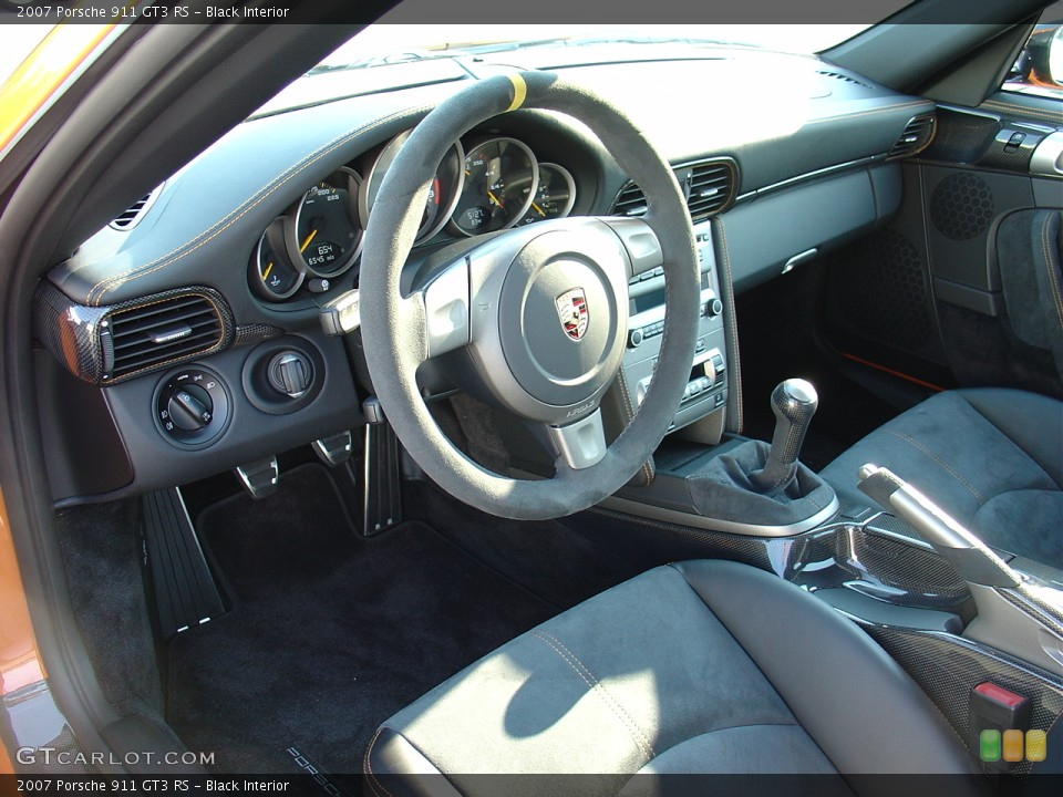 Black Interior Prime Interior for the 2007 Porsche 911 GT3 RS #22287