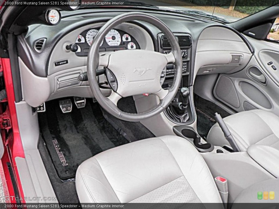 Medium Graphite Interior Photo for the 2000 Ford Mustang Saleen S281 Speedster #26998430