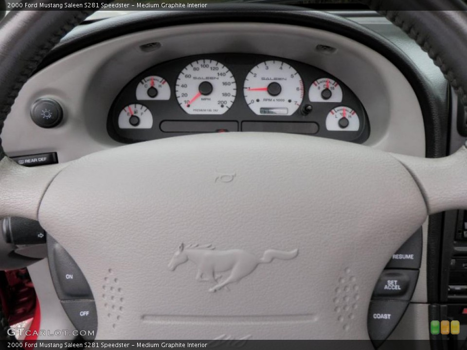 Medium Graphite Interior Gauges for the 2000 Ford Mustang Saleen S281 Speedster #26998595