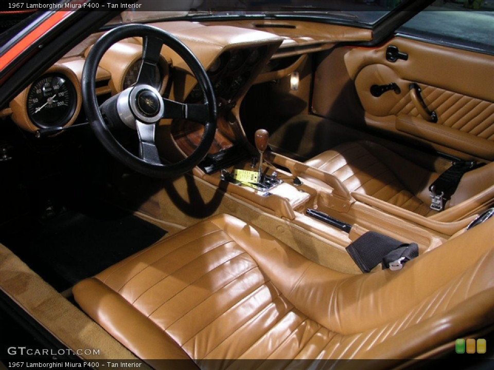 Tan Interior Dashboard For The 1967 Lamborghini Miura P400 281127