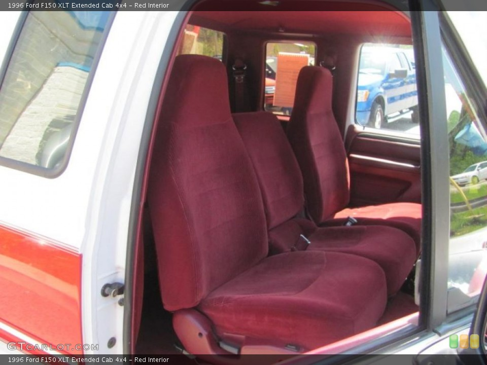 Sensational Red Interior Front Seat For The 1996 Ford F150 Xlt Extended Machost Co Dining Chair Design Ideas Machostcouk