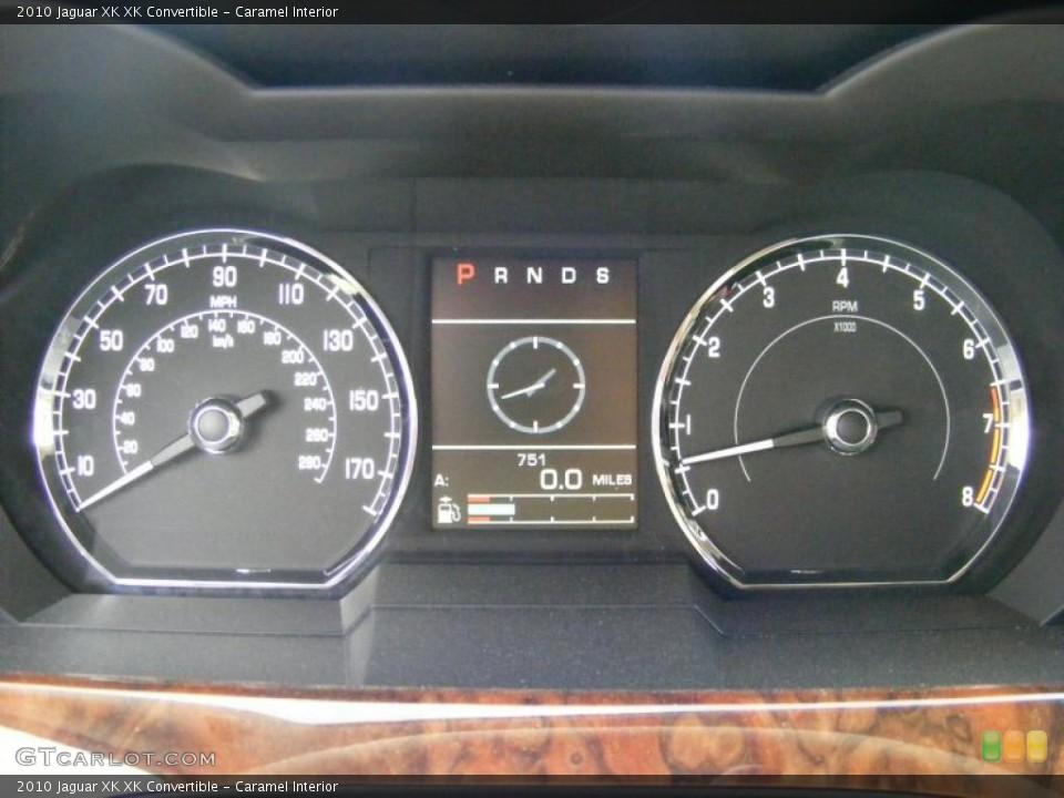 Caramel Interior Gauges for the 2010 Jaguar XK XK Convertible #37916162