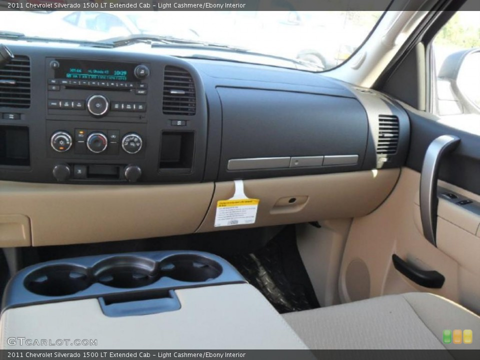 Light Cashmere/Ebony Interior Dashboard for the 2011 Chevrolet Silverado 1500 LT Extended Cab #37970760