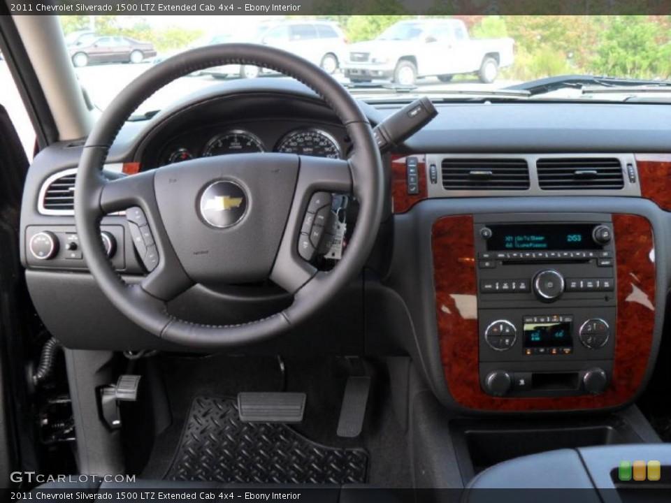 Ebony Interior Dashboard for the 2011 Chevrolet Silverado 1500 LTZ Extended Cab 4x4 #37971972