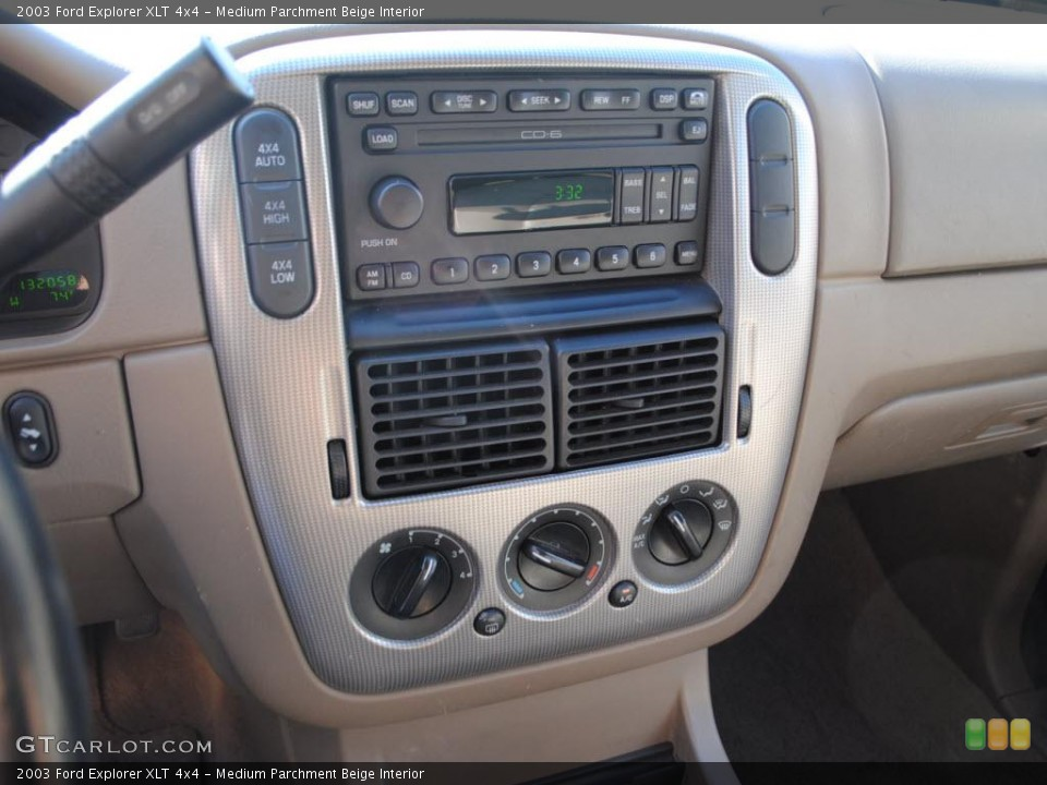 Medium Parchment Beige Interior Controls for the 2003 Ford Explorer XLT 4x4 #38038482