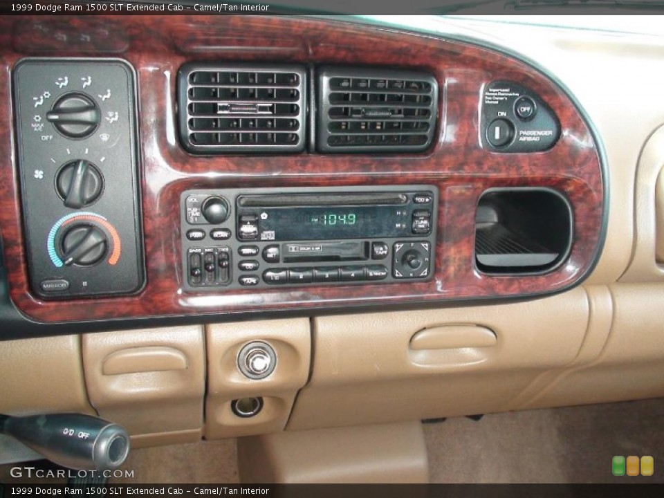 Camel/Tan Interior Controls for the 1999 Dodge Ram 1500 SLT Extended Cab #38041398